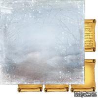 Лист двусторонней бумаги для скрапбукинга Зимння тайна 006, дизайн Елены Виноградовой, 30х30см, 200г/м