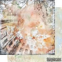 """Лист двусторонней скрапбумаги """"Городская симфония"""" -LV005, дизайн Елены Виноградовой, размер: 30х30 см"""