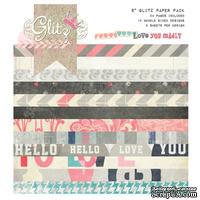 Набор бумаги от Glitz Design - Love You Madly - 15х15 см