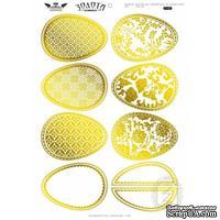 Высечки Lesia Zgharda - Золотая коллекция - Яйца пасхальные, 9 штук
