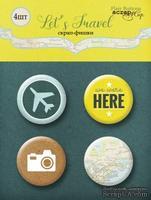 Набор скрап-фишек для скрапбукинга от Scrapmir - Let's Travel, 4шт.