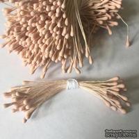 Тычинки, цвет пудровый, диаметр 1.5 мм, 50 шт.