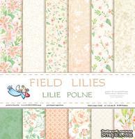 Набор двусторонней  скрапбумаги от Galeria Papieru - Lilie polne - bloczek, 30,5 х 30,5 см