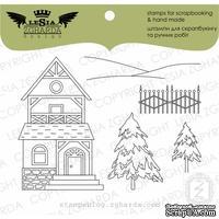 Набор акриловых штампов Lesia Zgharda Карпатський будиночок M016