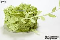 Лента LEAVES, цвет PARROT GREEN, длина листика 12мм, 90см