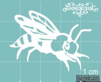 Чипборд от Вензелик - Пчела 02, размер: 40x30 мм - ScrapUA.com
