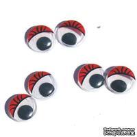 Глазки для игрушек, Accent Design, красные, 13мм, 10 шт.