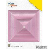 Лезвие Nellie Snellen Multi Frame Dies - Straight Square - ScrapUA.com