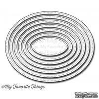 Лезвие My Favorite Things - Die-namics Pierced Oval STAX, 7 шт.