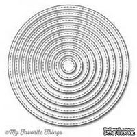 Лезвие My Favorite Things - Die-namics Stitched Circle STAX - ScrapUA.com