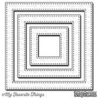 Лезвие My Favorite Things -Die-namics Stitched Square Frames - ScrapUA.com