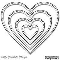 Лезвие My Favorite Things - Die-namics Stitched Heart STAX