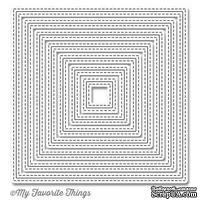 Лезвие My Favorite Things - Die-namics Inside and Out Stitched Square STAX, 7 шт.