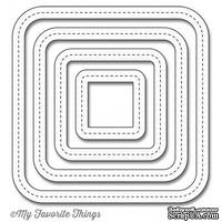 Лезвие My Favorite Things - Die-namics Single Stitch Line Rounded Square Frames, 4 шт.