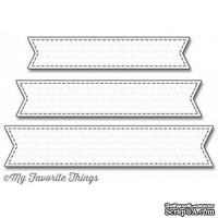 Лезвие My Favorite Things - Die-namics Stitched Fishtail Sentiment Strips, 3 шт.