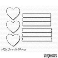 Лезвие My Favorite Things - Die-namics Hearts in a Row - Vertical - ScrapUA.com