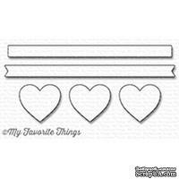 Лезвие My Favorite Things - Die-namics Hearts in a Row - Horizontal - ScrapUA.com