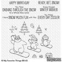 Акриловый штамп My Favorite Things - BB Ready, Set, Snow
