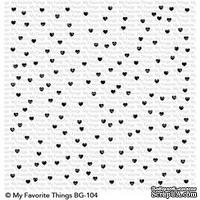 Резиновый штамп My Favorite Things - BG Scattered Hearts Background - ScrapUA.com