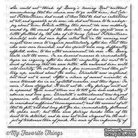 Резиновый штамп My Favorite Things - BG Romantic Script Background