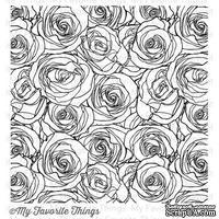 Резиновый штамп My Favorite Things - BG Roses All Over Background