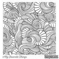 Резиновый штамп My Favorite Things - BG Wavy Coloring Book Background