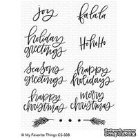 Акриловый штамп My Favorite Things - Hand-Lettered Holiday Greetings