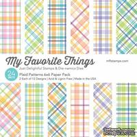 Набор бумаги My Favorite Things - Plaid Patterns Paper Pack, размер 15х15 см, 24 листа.