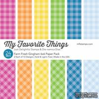 Набор бумаги My Favorite Things - Farm Fresh Gingham Paper Pack, размер 15х15 см, 24 листа.