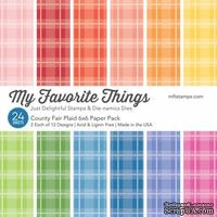 Набор бумаги My Favorite Things - County Fair Plaid Paper Pack, размер 15х15 см, 24 листа.