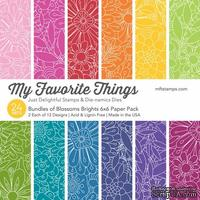 Набор бумаги My Favorite Things - Bundles of Blossoms Brights Paper Pack, размер 15х15 см, 24 листа.