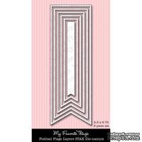 Лезвие My Favorite Things - Die-namics Fishtail Layers Flags STAX (MFT223) - ScrapUA.com