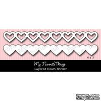 Лезвие My Favorite Things - Die-namics Layered Heart Border
