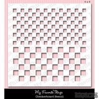 Маска My Favorite Things - Stencil MPD Checkerboard, 15х15 см