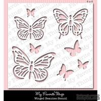 Маска My Favorite Things - Stencil MPD Winged Beauties, 15х15 см