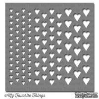 Маска My Favorite Things - Stencil MPD Graduated Hearts, 15х15 см