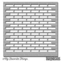 Маска My Favorite Things - Stencil Small Brick Wall, 15х15 см
