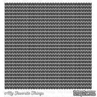 Резиновый штамп My Favorite Things - BG Sweater Stitch Background, с оснасткой (BG28) - ScrapUA.com