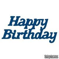 Нож для вырубки от Tattered Lace - Mini die Happy Birthday - С Днем Рождения