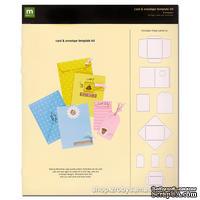 Набор трафаретов для создания открыток и конвертов - Cards & Envelopes Template Kit, 9 шт.