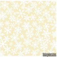 Лист кальки с бархатным напылением Making Memories - Snowflake Flocked Vellum FaLaLa