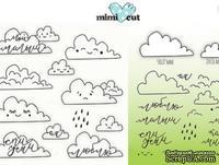 Набор штампов и ножей для вырубки от  MiMiCut - Заоблачная любовь, 58 x 27мм, 27 x 16мм