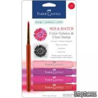 Набор пигментных мелков от Faber Castell - RED, 4 шт. - ScrapUA.com