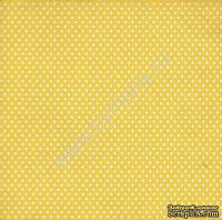 """Лист односторонней бумаги от Mona Design - """"Желтый горох"""", 30,5х30,5см"""