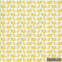 Лист односторонней бумаги от Mona Design - Лимоны, 30,5х30,5см