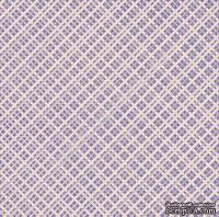 """Лист односторонней бумаги от Mona Design """"Черничная клетка"""", 30,5х30,5см"""