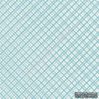 """Лист односторонней бумаги от Mona Design """"Голубой"""", 30,5х30,5см"""