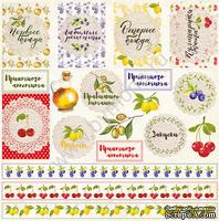 """Лист односторонней бумаги от Mona Design - """"Карточки"""" - Вкусно, 30,5х30,5см"""
