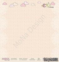 """Лист односторонней бумаги от Mona Design - """"Нежная Малышка"""", 30х30см"""