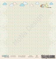 """Лист односторонней бумаги от Mona Design - """"Нежный Малыш"""", 30х30см"""